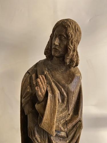 Sculpture  - A sculpture (late Gothic) in oak of the apostle John, XVI Flanders