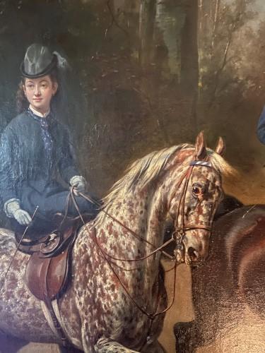 Women riders in amazon riding - Conrad Freyberg (1842-1915)  -