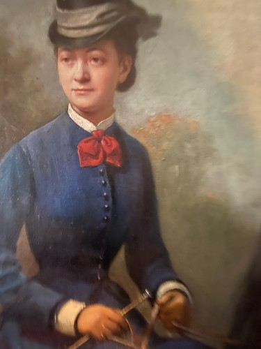 19th century - Women riders in amazon riding - Conrad Freyberg (1842-1915)
