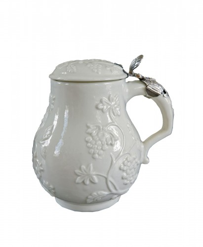 Saint-Cloud soft-paste milk jug, circa 1730-1740
