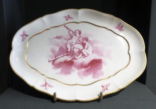 18th century - Sèvres soft-paste tray ('Plateau du Roy'), dated 1760