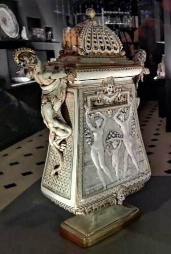 'Vase cassolette aux chimères' by Carrier-Belleuse for Sèvres 1886-1888 - Porcelain & Faience Style