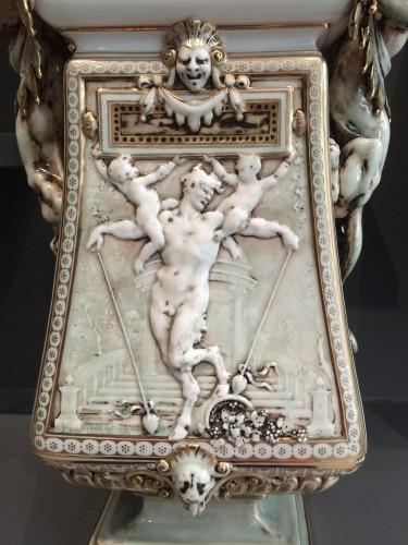 Porcelain & Faience  - 'Vase cassolette aux chimères' by Carrier-Belleuse for Sèvres 1886-1888