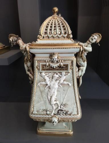 - 'Vase cassolette aux chimères' by Carrier-Belleuse for Sèvres 1886-1888