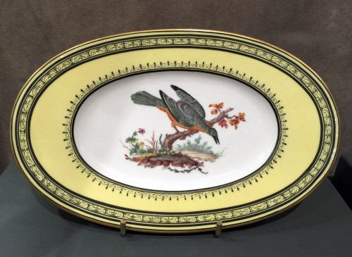 Louis XVI - Sèvres soft-paste porcelain sugar-bowl with yellow ground, dated 1791