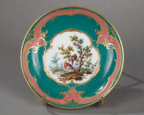 Sèvres soft-paste porcelain saucer, dated 1760 - Porcelain & Faience Style Louis XV