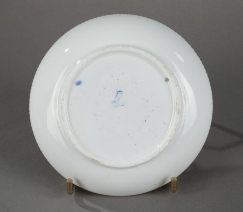 18th century - Sèvres soft-paste porcelain saucer, dated 1760