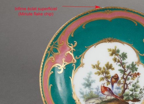 Louis XV - Sèvres soft-paste porcelain saucer, dated 1760