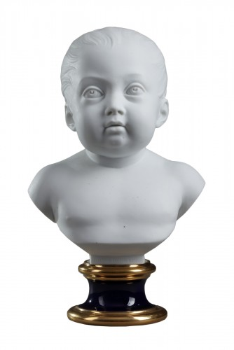 Sèvres biscuit bust of the duc de Bordeaux, dated 1822