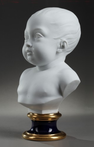 Sèvres biscuit bust of the duc de Bordeaux, dated 1822 - Porcelain & Faience Style Restauration - Charles X