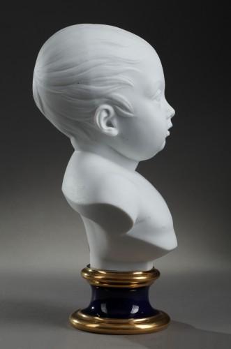 Porcelain & Faience  - Sèvres biscuit bust of the duc de Bordeaux, dated 1822
