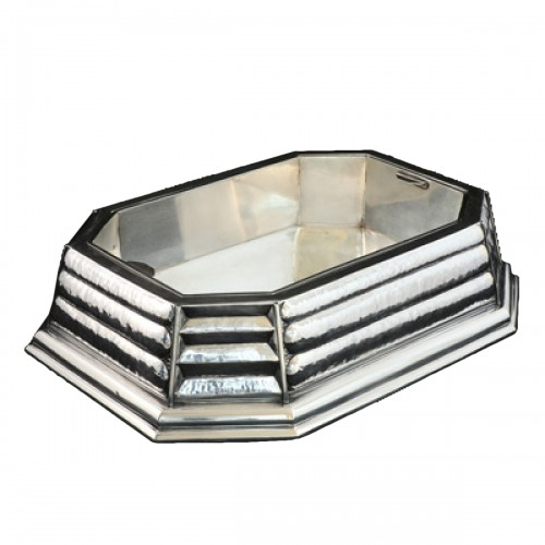Silver centerpiece from the Art Déco period, design by Raymond Ruys 1930