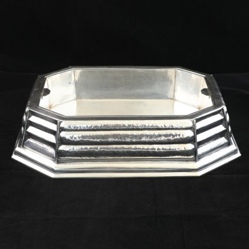 Silver centerpiece from the Art Déco period, design by Raymond Ruys 1930 - Antique Silver Style Art Déco