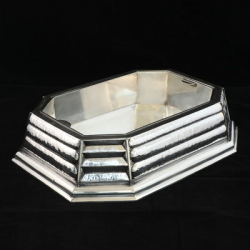 Antiquités - Silver centerpiece from the Art Déco period, design by Raymond Ruys 1930