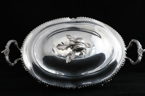 An Antique Early Victorian Sterling Silver soup tureen in a Regency style -