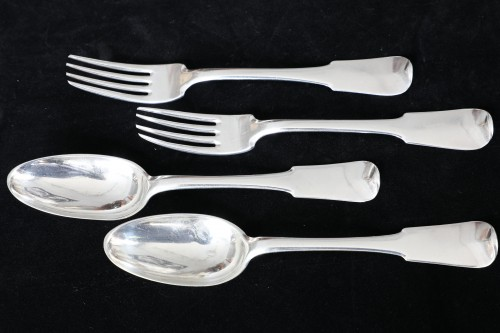 18th century silver cutlery, Jurisdiction of Besançon at Lons-le-Saunier  -
