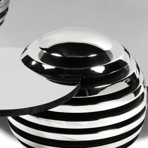 Serge MANSAU (1930-2019) - Evolving coffee table, unique piece exhibited in 1974 - Furniture Style 50