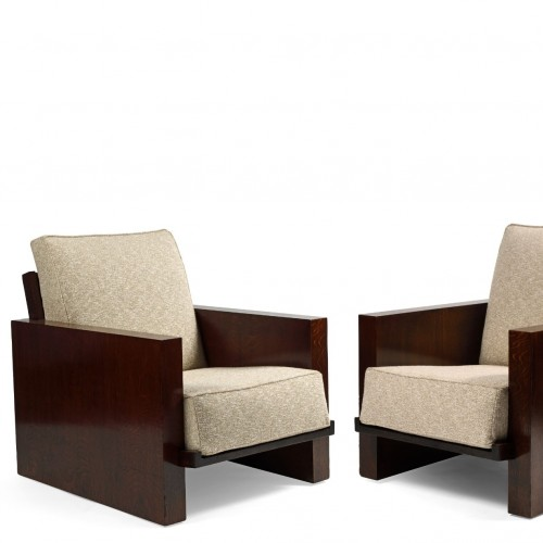 Jacques ADNET (1900-1984) - Pair of modernist armchairs - Seating Style Art Déco