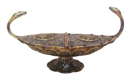Gilded and enameled incense burner