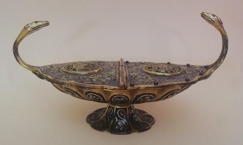 Gilded and enameled incense burner -