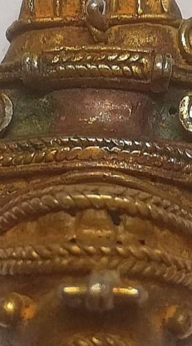 Authentic Tairona lost wax tumbaga pendant -