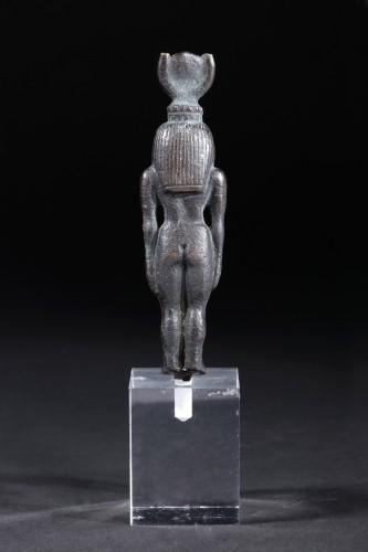 An egyptian bronze figure of Hathor - Ancient Art Style