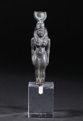Ancient Art  - An egyptian bronze figure of Hathor