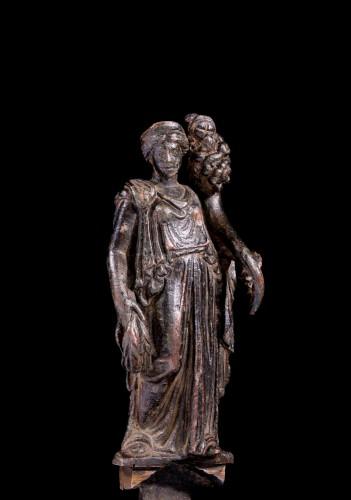 Ancient Art  - Roman bronze statuette of Fortuna
