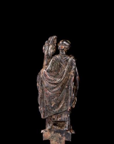 Roman bronze statuette of Fortuna -