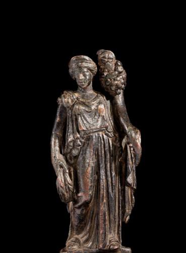 <= 16th century - Roman bronze statuette of Fortuna