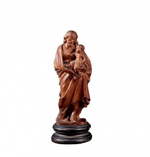 Statuette Figuring St Joseph Carrying Jesus