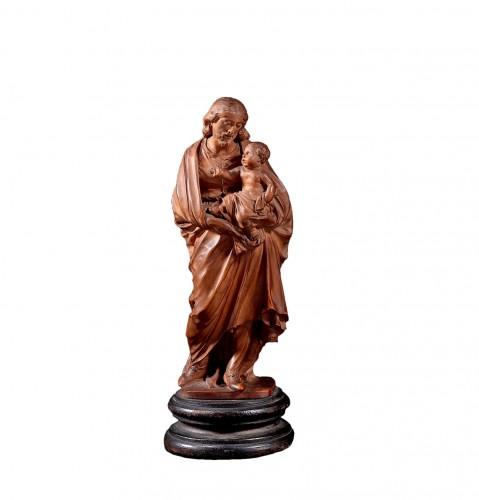 Statuette Figuring St Joseph Carrying Jesus