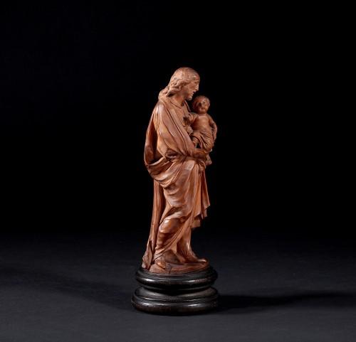 Sculpture  - Statuette Figuring St Joseph Carrying Jesus