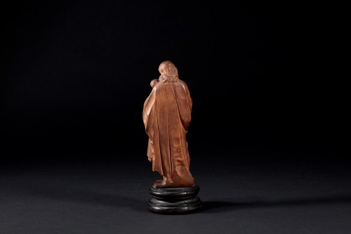 Statuette Figuring St Joseph Carrying Jesus -