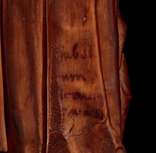 17th century - Statuette Figuring St Joseph Carrying Jesus