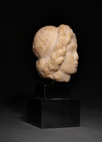 Ancient Art  - Hellenistic marble head of a statuette