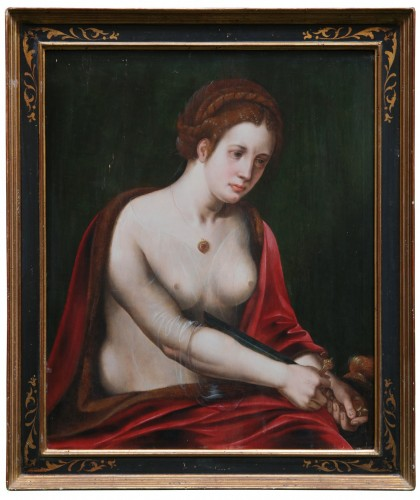 Death of Lucretia, attributed to the Master of the Female Half-Lengths