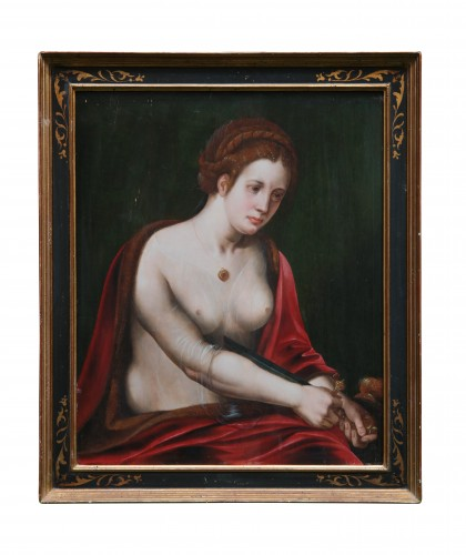 Death of Lucretia, attributed to the Master of the Female Half-Lengths - Paintings & Drawings Style
