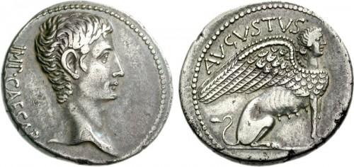 Ancient Art  - Roman carnelian intaglio depicting a sphinx