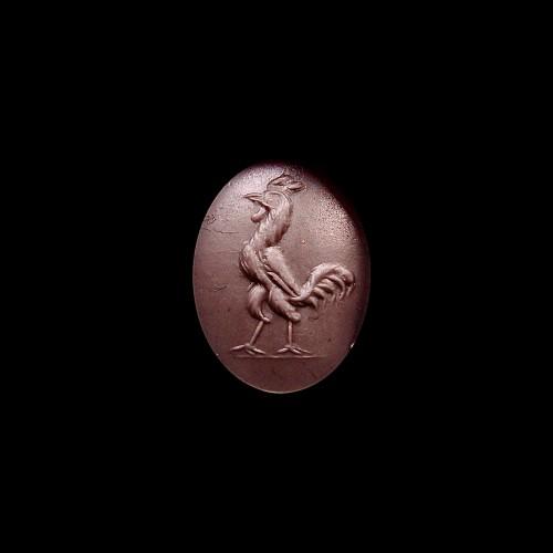 Ancient Art  - Jasper intaglio figuring a cock