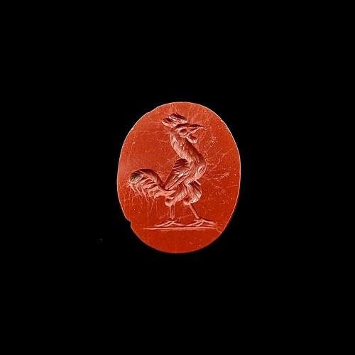 BC to 10th century - Jasper intaglio figuring a cock