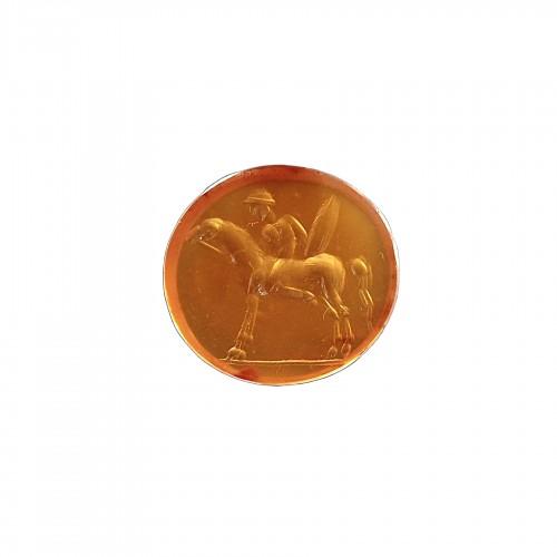 ROMAN CARNELIAN INTAGLIO : HORSEMAN