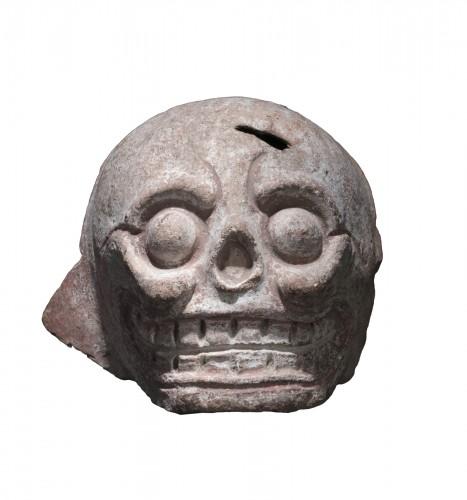 Mayan terracotta skull