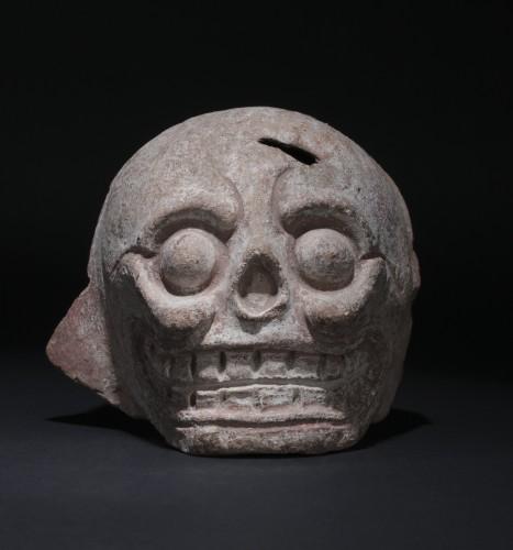 Mayan terracotta skull - Ancient Art Style