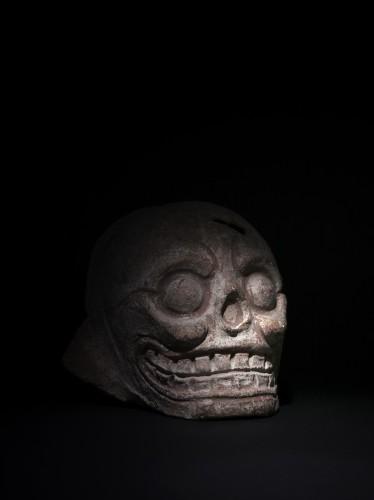 Ancient Art  - Mayan terracotta skull