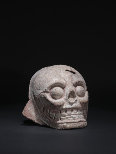 Mayan terracotta skull -