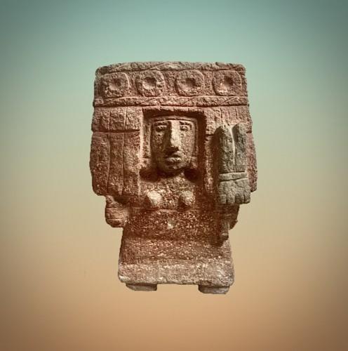 Aztec stone figure of the deity chicomecoatl -