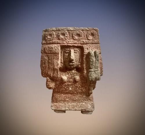 11th to 15th century - Aztec stone figure of the deity chicomecoatl