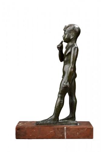 Egyptian bronze figure of harpocrates