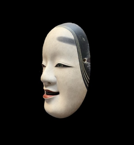 Ko-omote noh theatre mask - Asian Works of Art Style